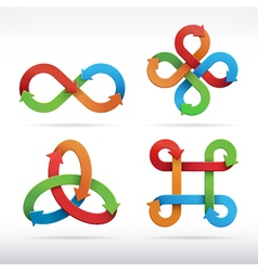 Colorful infinity symbol icons vector image