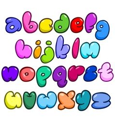 Comic bubble lower case alphabet vector
