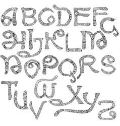 Decorated latin alphabet vector