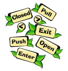 Door signs gardens vector