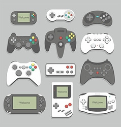 gamepad icon set vector image