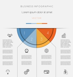 Infographic color semicircle on four positions vector image vector image