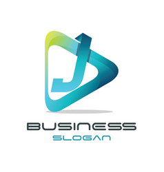 letter j media logo vector image