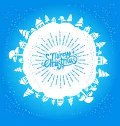 light blue christmas card vector image