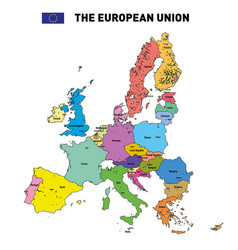 map of the european union vector image vector image