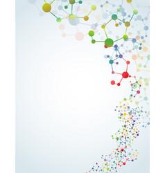 Multicolored molecular background vector