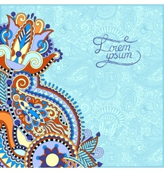 paisley design on decorative floral background vector image