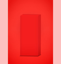 red box on red background vector image vector image