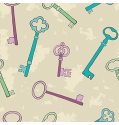 Retro keys background vector image vector image