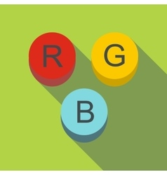 Rgb button icon flat style vector