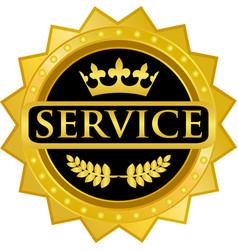 Service gold icon vector