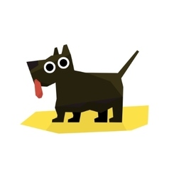 Small black terrier dog vector