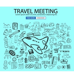Travel for Business concept with Doodle design vector image vector image