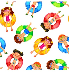 floating kids pattern vector image