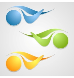 Abstract logo shapes template design vector image