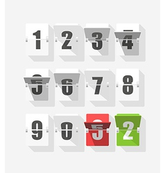 Counter with digits set Flat design vector image