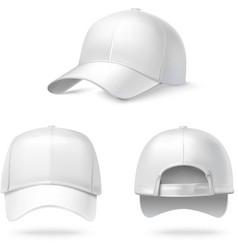 Realistic baseball cap vector