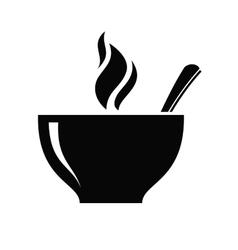 Soup icon vector