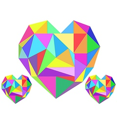 Abstract heart geometrical vector