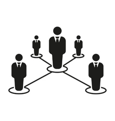 The teamwork icon leadership and connection vector
