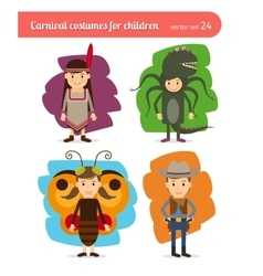 Children costumes vector image