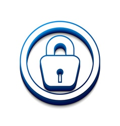 3d glossy lock icon vector