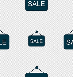 Sale icon sign seamless pattern with geometric vector