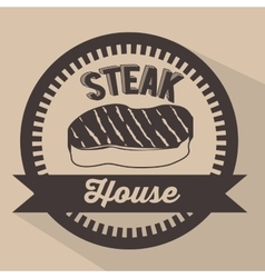 Steak house design vector