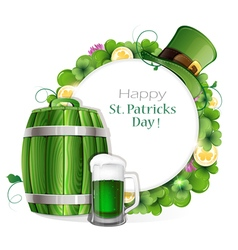 Leprechaun Beer barrel vector image