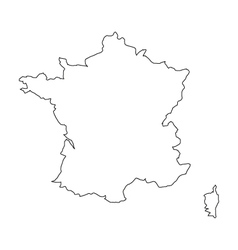 Map france vector