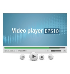 Video player with icons vector image