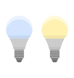 Led bulbs flat color icon light bulb energy vector