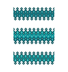 arabic geometric border vector image
