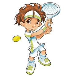 Baby Tennis Player vector image vector image