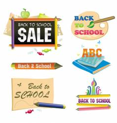 back to school icon vector image vector image