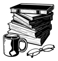 Books and Stuff vector image