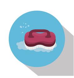 Brush laundry isolated icon vector