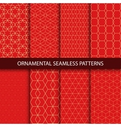 Collection of luxury seamless ornamental patterns vector