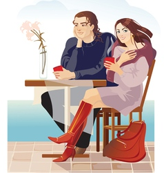 couple2 vector image vector image