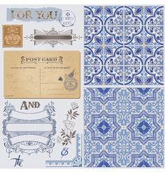 Design Elements - Vintage Postcard vector image