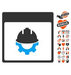 Development calendar page icon with lovely bonus vector