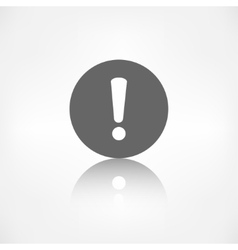 Exclamation danger attention icon vector image