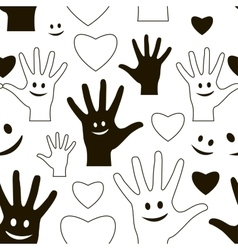 Friendship day pattern vector image
