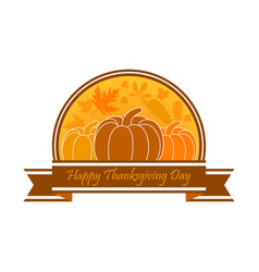 Happy thanksgiving day celebration banner vector