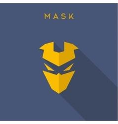 Hero superhero mask flat style vector