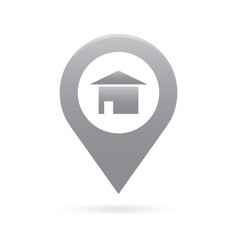 home house map pointer icon marker gps location vector image