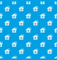 House pattern seamless blue vector