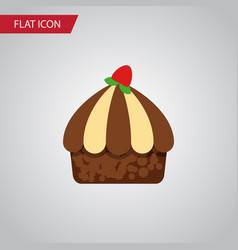 isolated muffin flat icon cupcake element vector image vector image