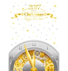 Merry christmas and new year flyer greeting card vector