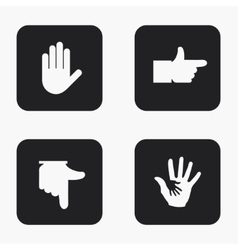 Modern hand icons set vector